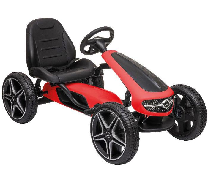 Trampbil Mercedes Gokart Röd